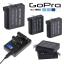 แบตเตอรี่และที่ชาร์จ GoPro Hero 4 AHDBT-401 AHDBT401 1600mAh and Dual Charger