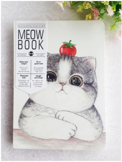สมุดโน้ต MEOW BOOK ขนาด A5 : แมวกับมะเขือเทศ