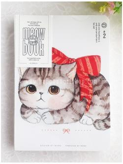 สมุดโน้ต MEOW BOOK ขนาด A5 : แมวผูกโบว์แดง