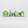 น้องกบเดินทางและผองเพื่อน 1เซ็ทมี4ตัว Tabi Kaeru Travel Frog Action Figures