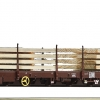 Roco76772 OBB flat car with wood load