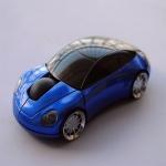 เม้าส์ไร้สายรูปรถยนต์สีน้ำเงิน