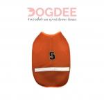 เสื้อน้องหมา เสื้อน้องแมว ชุดวินมอเตอร์ไซค์สีส้ม เบอร์ 3