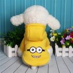 เสื้อฮูด น้องหมา น้องแมว ลายมินเนี่ยน สีเหลือง