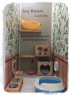ห้องพักแมว Ivy Room ขนาด 0.9x1.2m