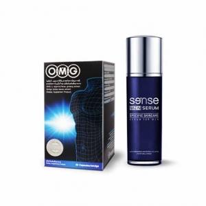 OMG 1 กระปุก (30 แคปซูล) + Sense Men Serum 30 ml.