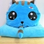 SC0010 Free ปักชื่อบนผ้าห่ม!! ตุ๊กตาหมอนผ้าห่มแมวเหมียวแอ๊บแบ๊ว สีน้ำเงินน่ารัก มีที่ซุกมือ ผ้าห่มนุ้มนุ่ม