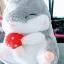 SC0020 Free ปักชื่อบนผ้าห่ม!! ตุ๊กตาหมอนผ้าห่ม แฮมเตอร์สีเทา น่ารักมากๆ ตัวอ้วนปุ๊กลุกน่ากอดพร้อมผ้าห่มแสนนุ่มสบาย