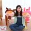 SC0022Free ปักชื่อบนผ้าห่ม!! ตุ๊กตาหมอนผ้าห่มเด็กผู้หญิงสีชมพู มีทีซุกมือ น่ารักแบ๊วสุดๆ
