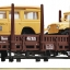 Roco67259 stake car with car load
