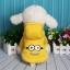 เสื้อฮูด น้องหมา น้องแมว ลายมินเนี่ยน สีเหลือง thumbnail 1
