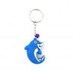พวงกุญแจยาง ปลาโลมา(สีน้ำเงิน) 12อัน