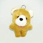 พวงกุญแจผ้าสักหลาด หมีสีน้ำตาล 12อัน