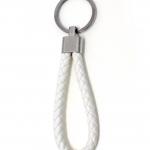 พวงกุญแจ(หนังเทียม)ห้อยกระเป๋า เกลียวสีขาว 12อัน