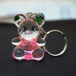 พวงกุญแจคริสตัล หมี(สีชมพู) 12อัน