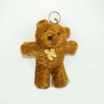 พวงกุญแจผ้าสักหลาด หมีน้อยสีน้ำตาล 12อัน