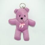 พวงกุญแจผ้าสักหลาด หมีน้อยสีม่วง 12อัน