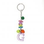 พวงกุญแจตัวอักษร Gสีม่วง(แบบเล็ก) 12อัน