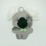 พวงกุญแจผ้าสักหลาด หมาน้อยสีเทา 12อัน