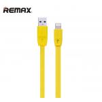 สายชาร์จ Remax iPhone 6, 6+, 5S รุ่น Full Speed Series สีเหลือง