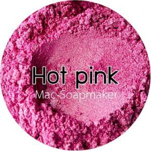 Hot pink mica pearlescent pigment/ สีชมพูเข้มประกายมุก /สีไมก้า