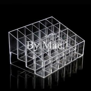 กล่องอะคริลิกใส ใส่ลิปสติก 24 ช่อง