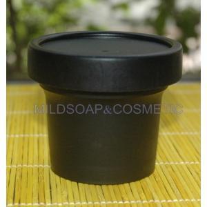 กระปุกครีม spa สีดำ มีฝาใน ขนาด 100 กรัม