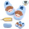 รองเท้าเด็กอ่อน ลายลิง สีฟ้า - Light blue monkey