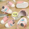 รองเท้าเด็กอ่อน รองเท้าเด็กหัดเดิน รองเท้าผ้าใบ สีชมพู - Pink star 108
