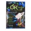 แชมพูปิดผมขาว OK Herbal พร้อมถุงมือ (1แพ็ค มี 6 ซอง) สีน้ำตาลเข้ม
