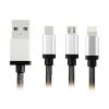 สายชาร์จ Earldom 3 in 1 iPhone+Micro USB+TYPE-C