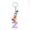 พวงกุญแจตัวอักษร Zสีม่วง(แบบเล็ก) 12อัน