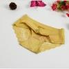 กางเกงในไร้ขอบซีทรูขอบขา สีเหลือง
