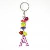 พวงกุญแจตัวอักษร Aสีชมพูอมม่วง(แบบเล็ก) 12อัน