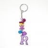พวงกุญแจตัวอักษร Rสีม่วง(แบบเล็ก) 12อัน