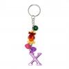 พวงกุญแจตัวอักษร Xสีชมพูอมม่วง(แบบเล็ก) 12อัน