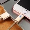 สายชาร์จถัก Joyroom S-Q4 Breathing Lamp iPhone 2 เมตร สีทอง