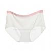 กางเกงในไร้ขอบแถบสี ขอบเรียบ สีขาว ไข่มุก