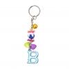 พวงกุญแจตัวอักษร Bสีฟ้า(แบบเล็ก) 12อัน