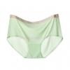 กางเกงในไร้ขอบแถบสี ขอบเรียบ สีเขียวอ่อน