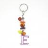 พวงกุญแจตัวอักษร Eสีชมพูอมม่วง(แบบเล็ก) 12อัน