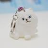 พวงกุญแจยาง แมวขาว(บีบมีเสียง) 12อัน