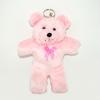 พวงกุญแจผ้าสักหลาด หมีน้อยสีชมพู 12อัน