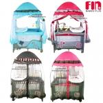 เตียงนอนเด็ก เปลเพน Farlin Playpen Fin babies plus (CAR-P9032) ฟรีค่าส่ง
