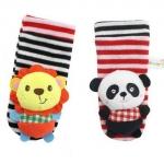 เซตสายรัดข้อมือ+ถุงเท้า สิงโต-แพนด้า เสริมพัฒนาการ Happy Monkey