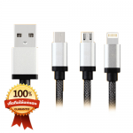 สายชาร์จ Earldom 3 in 1 iPhone+Micro USB+TYPE-C