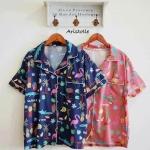 พร้อมส่ง 🌟NEW ARRIVAL ‼️ ชุดนอนลายสวนสัตว์ น่ารักสุดๆ ผ้าซาตินแท้ นิ่มลื่น ราคาเบาๆ มี 2 สี น้ำเงิน แดงนะคะ