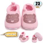รองเท้าเด็กอ่อน ลายหมี สีชมพู - Pink cubs