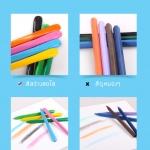 สีเทียนแท่งสามเหลี่ยม △ ปลอดสารพิษ Crayonlab เซ็ต 12 สี