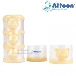 Attoon กระปุกแบ่งนมผง 3 ชั้น รูปหมี